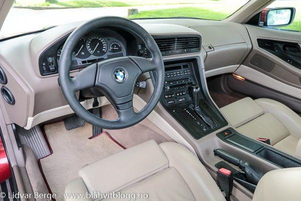 BMW 850i interiør
