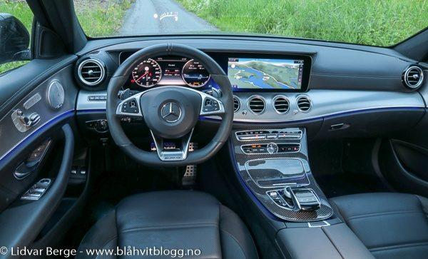 Mercedes E43 AMG interiør